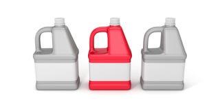 Blank detergent bottle. 3d illustration isolated on white background Royalty Free Stock Image