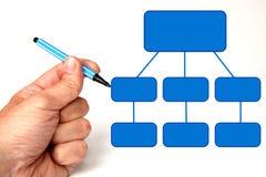 Blank diagram vector illustration