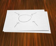 Blank Diagram on Paper Stock Images