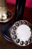 Blank Dial. 1910-1920 Candlestick telephone, with a blank dial area for adding text Stock Photos