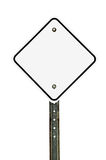 Blank Diamond White Traffic Sign Royalty Free Stock Image