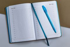 Diary with ink royalty free stock photography