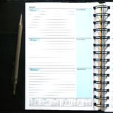 Blank Diary Notebook Royalty Free Stock Image