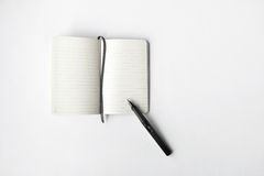 Blank diary and pen Royalty Free Stock Image