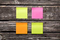 Blank different colors sticky note paper sheets Royalty Free Stock Photography