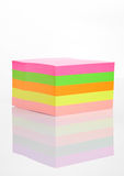 Blank different colors sticky note paper on white Stock Image