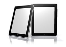 Blank digital picture frames (Clipping Path). Digital Photoframe or tablet computer device. High quality. Isolated on white background with clipping path around Stock Photo