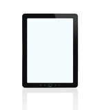Blank digital tablet with clipping path stock illustration
