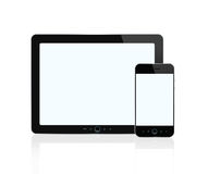 Blank digital tablet and smart phone royalty free illustration