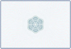 Blank Diploma or Certificate. Complex vector pattern that is used in currency and diplomas. For more see Guilloche in my gallery Royalty Free Stock Photo