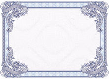 Blank Diploma or Certificate. Complex vector pattern that is used in currency and diplomas. For more see Guilloche in my gallery Stock Images