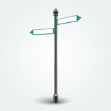 Blank Direction arrows signs for copy space Royalty Free Stock Image