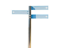 Blank direction blue signpost. Royalty Free Stock Photography