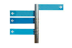 Blank direction blue signpost. Stock Photography