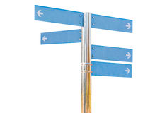 Blank direction blue signpost. Royalty Free Stock Image