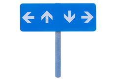 Blank direction blue signpost. Royalty Free Stock Photo