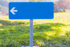 Blank direction blue signpost. Stock Image