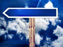 Blank direction road sign Stock Photos