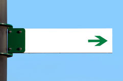 Blank direction sign. A blank signal display with direction Stock Photo