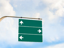Blank direction signboard stock photography