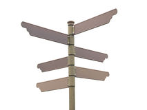 Blank direction signpost Stock Image
