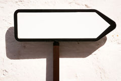 Blank directional sign Stock Images