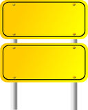 Blank Directional Sign 5 Stock Photos