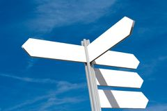Blank Directional Sign Post Stock Photography