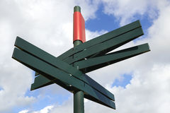 Blank Directional Sign Post Stock Images