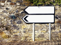 Blank directional sign Stock Photo