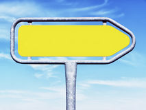 Blank directional sign Royalty Free Stock Photos