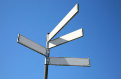 Blank directional signs royalty free stock photos