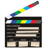 Blank director clapboard  on transparent background vector. Blank of director clapboard  isolated on transparent background vector illustration Stock Photo