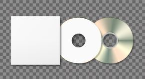 Blank disk and case template. Blank mockup on dark background. Graphic design element. Add your own background, text, logo, or any other design. Vector stock illustration