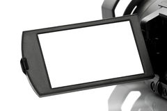 Blank Display of Handycam Camcorder Royalty Free Stock Photo