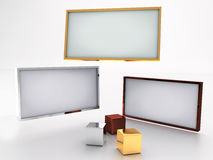 Blank displays. Template for designers Stock Photography