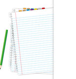 Blank document. And pencil by illustrations Stock Images