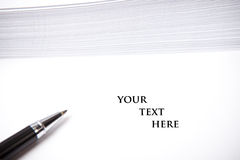 Blank document with text space, white background Stock Images