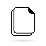 Blank document vector icon Stock Images
