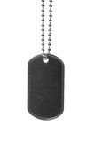 Blank dog tag isolated on white Royalty Free Stock Photos