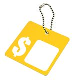 Blank dollar price tag Stock Images