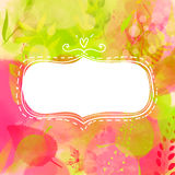 Blank doodle decorative frame. Nature inspired Stock Images