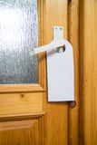 Blank door hanger Stock Image