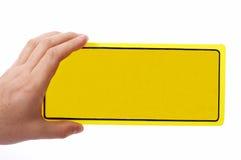 Blank door sign Stock Photography