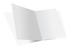 Blank double sheets Stock Photos