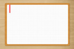 Blank drawing white paper Royalty Free Stock Photo