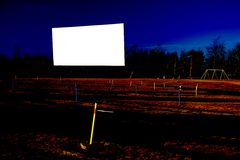 Blank Drive-In Movie Screen. Display your message or image on a vintage drive-in movie screen Stock Photography