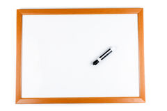 Blank dry erase board Stock Image