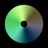 Blank Dvd. Blank Disc (cd / Dvd) On Black Background Royalty Free Stock Images