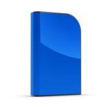 Blank dvd box. Blue clean dvd box on white Royalty Free Stock Photos